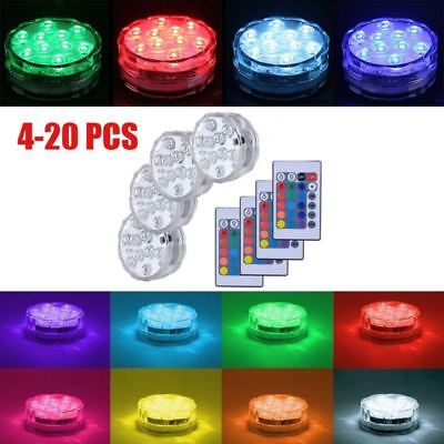 20XWaterproof LED RGB Submersible Light Wedding Party Vase Lamp W/Remote Control