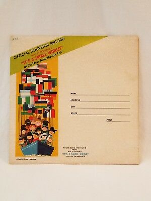 "1964 New York Worlds Fair Souvenir ""It's A Small World"" 45 RPM & Sleeve, DISNEY"