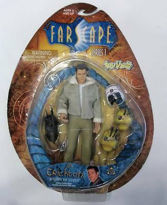 NIP FARSCAPE COMMANDER JOHN CRICHTON ACTION FIGURE NEW MOC TOYVAULT with 2 DRD's