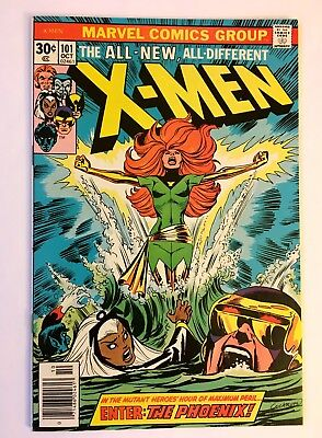 X-MEN #101 BEAUTIFUL NEAR PERFECT HIGH GRADE UNRESTORED WHITE pages 1st Phoenix