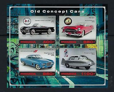 D7898 MNH 2017 S/S 4 Old Concept Cars Dodge Plymouth Chevy Corvette Pininfarina