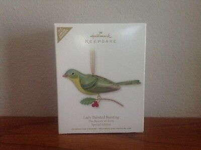 2012  Lady Painted Bunting Special Edition Hallmark Ornament The Beauty of Birds