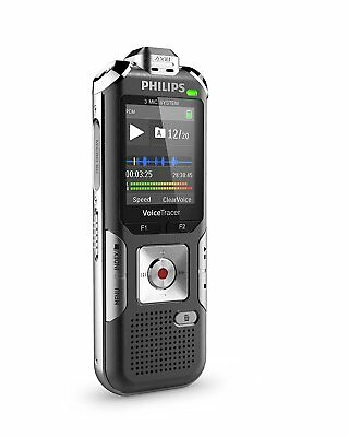 Philips Voice Tracer DVT6010 Digital Recorder, 8 GB, Gray/Silver