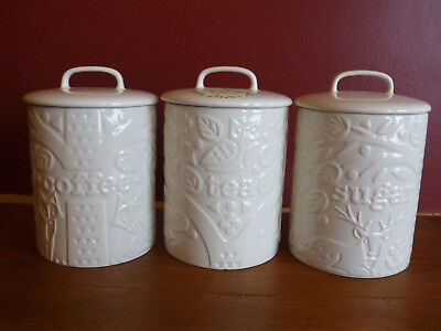 SET OF MASON Cash Stoneware Kitchen Canister Jars In The ...