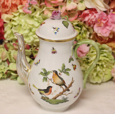 Large, Herend, 'Rothschild Birds' Coffee  Pot