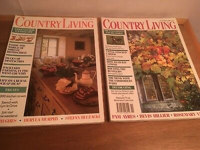 Vintage Country Living Magazines, 2 issues, November 1986 & 1988, VGC