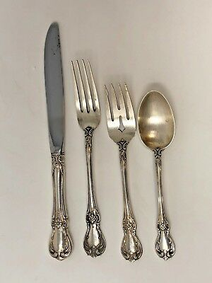 Towle Sterling Silver OLD MASTER 4-pc Place Setting Knife,Spoon,Fork,Salad Fork
