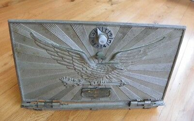 Antique Wide Flying Eagle Post Office Box Door - PO Box, Larger Size