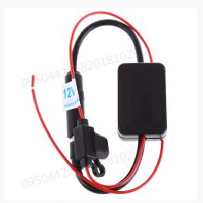 ANT-208 Car Auto Radio Antenna Aerial FM Signal Amplifier Booster DC10~15V