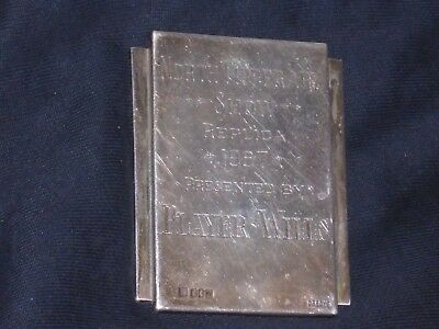 a solid irish silver plaque for north tipperary show replica 1967. for player