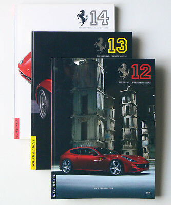 3 issues TOFM The Official FERRARI MAGAZINE #12 #13 #14 xlnt NO RESERVE wow!
