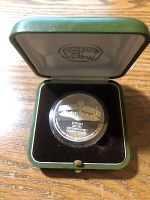 Israel 1984 Silver Coin - 2 Sheqalim Proof w/ Case Hanukkah Lamp Theresienstadt