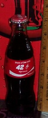 2018 Coca Cola Share A Coke With # 42 Kyle Larson 8 Ounce Glass Coca Cola Bottle