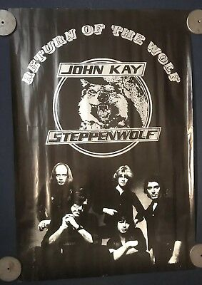 Steppenwolf John Kay Poster Promo, Return Of The Wolf, Rolled, 23x33
