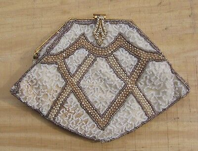 Vintage Art Deco Mesh Beaded Metal Purse Handbag Bag~Feetham Sault Ste Marie Mi