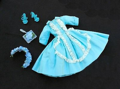 1957 Aqua and lace shirtwaist dress by Madame Alexander for Vintage Cissy Doll