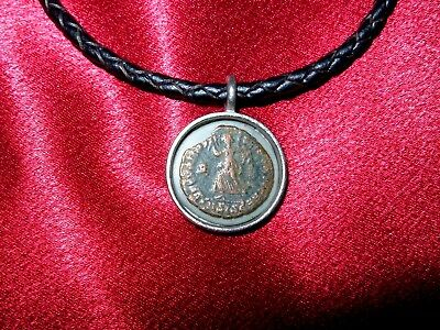 Ancient Roman Military Coin Necklace Jewelry with 1800 year old Original Coin