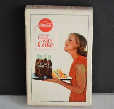 """Vintage COCA COLA """"Things Go Better With Coke"""" Playing CARDS Deck c1963"""