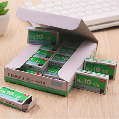 1000pcs No.10 Sliver Staples 5x2.7x1cm Box Set Fit for Mini Staplers