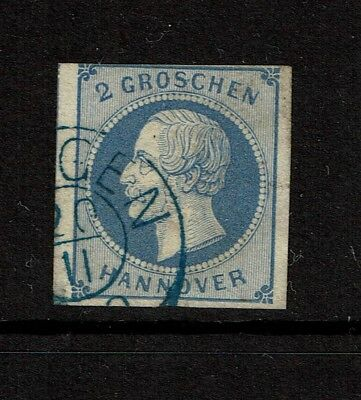 Hanover SC# 20, Used, small shallow side corner thin (Noted as Mi# 15a) - S4301