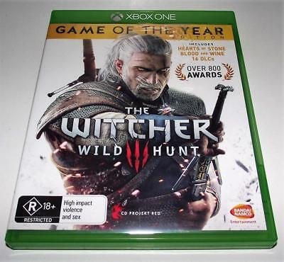 The Witcher Wild Hunt Microsoft Xbox One PAL *Complete* GOTYE