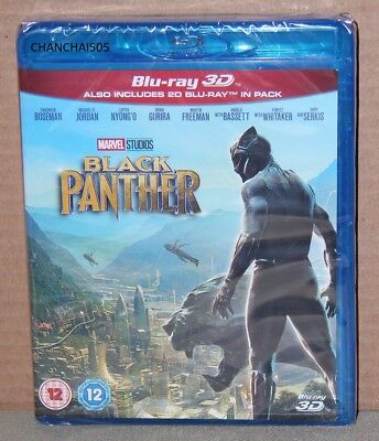 Black Panther 3D (Blu-ray 3D/2D, 2017) Brand New, Factory Sealed, Region Free
