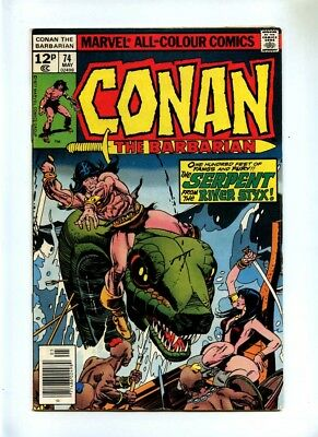 Conan the Barbarian #74 - Marvel 1977 - FN- - Pence