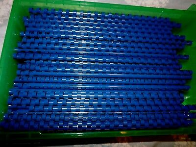 20X Fellowes blue plastic binding combs 6mm capacity 20 sheets 21 ring