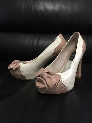 Forever New Peep Toe Shoes - AUS Size 7 / Eur 38