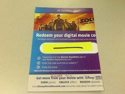Solo: A Star Wars story DIGITAL HD CODE ONLY