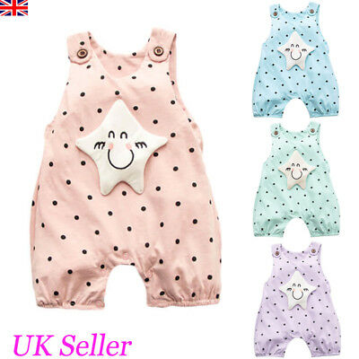 Newborn Infant Baby Girls Boys Cute Star Romper Jumpsuit Bodysuit Outfit Clothes
