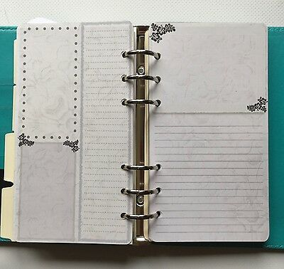 Filofax Personal Planner Paper - Stunning Silver / Grey Note Paper (20 sheets)