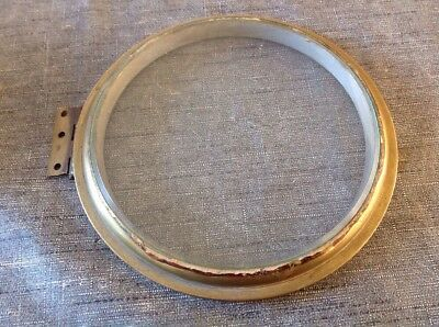 Antique Clock Bezel Solid Heavy Brass Bevelled Glass Spare Parts 175mm Diameter