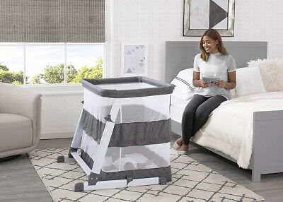 Bassinet for Baby with a Mattress Pad and Fitted Sheet Infant Sleeper Grey  Tweed 37e39a22b