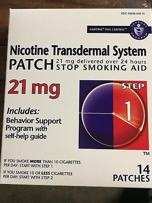 Habitrol Step 1 Nicotine Patch Transdermal System 21mg 14 Patches Each Exp 02/20
