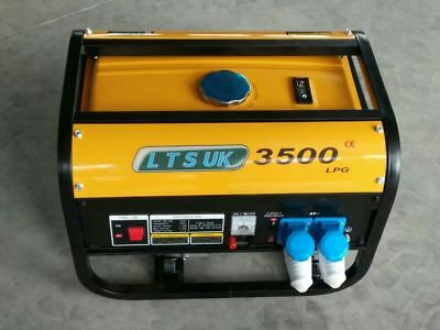LPG AND  PETROL GENERATOR  2.5KW DUAL FUEL new  240 volt 2 year warranty