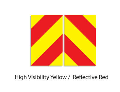 Chevron sticker set reflective pair chapter 8 for Highway Maintenance Vehicles