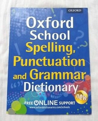 KS1 Oxford School Spelling Grammar & Punctuation Dictionary Kids Ages 5-7 Yr New