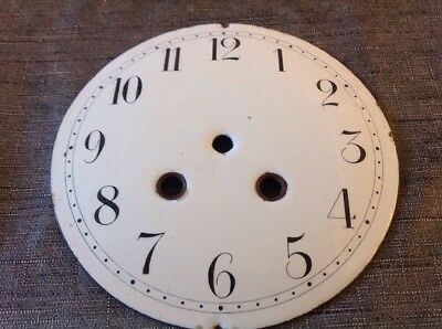Antique  Clock Enamel Dial 146mm Diam. 39mm Between Winding Centers