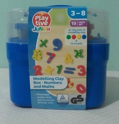 Modelling Clay Four Colours and 15 Moulds (3-8 Years) Numbers and Maths