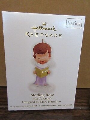 Hallmark Mary's Angels Sterling Rose 25Th In Series 2012 Mint With Box