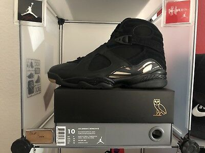 new product a57bd 408d1 Nike Air Jordan 8 Retro OVO Black US 10  EU 44 - Neu