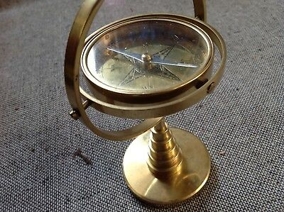 Brass table ships compass