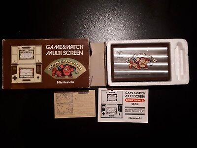 Nintendo Game & Watch Donkey Kong 2 Boxed with instructions, vintage 80s retro