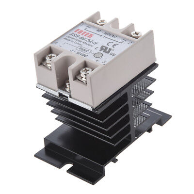 DC to AC SSR-60DA-H AC 90--480V 60A Single Phase Solid State Relay + Heat S C1N2