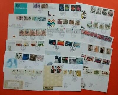 gb fdc Job Lot of 19 First Day Covers