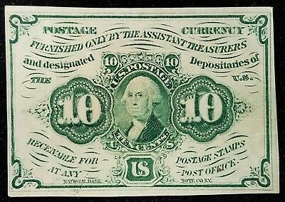 Ten Cents Fractional Currency! First Issue! Straight edges w/monogram! Fr. #1242