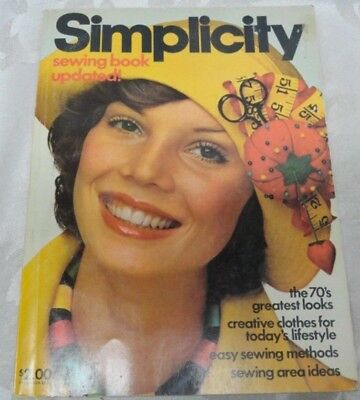Vintage Simplicity Sewing Book Updated 1975 1970s Fashion Greatest Looks Clothes