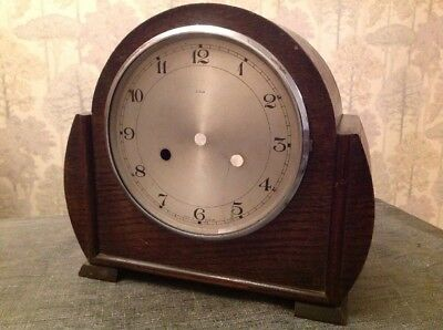 Antique Enfield Clock Case 25x23x12cm Bezel And Door 16cm No Glass