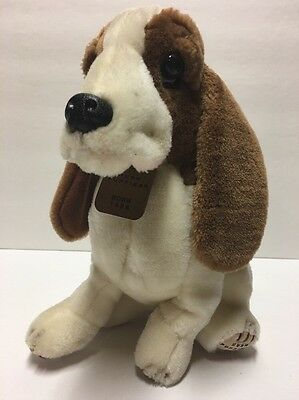 "🐶 Vintage Hush Puppies Plush Hound Leather Dog Tag by Wolverine 11"" Bassett"